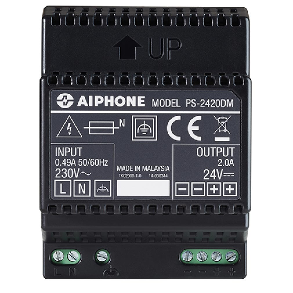 Aiphone - AIP110913 - PS2420DM Alimentation 230 Vac / 24 Vcc - 2 A