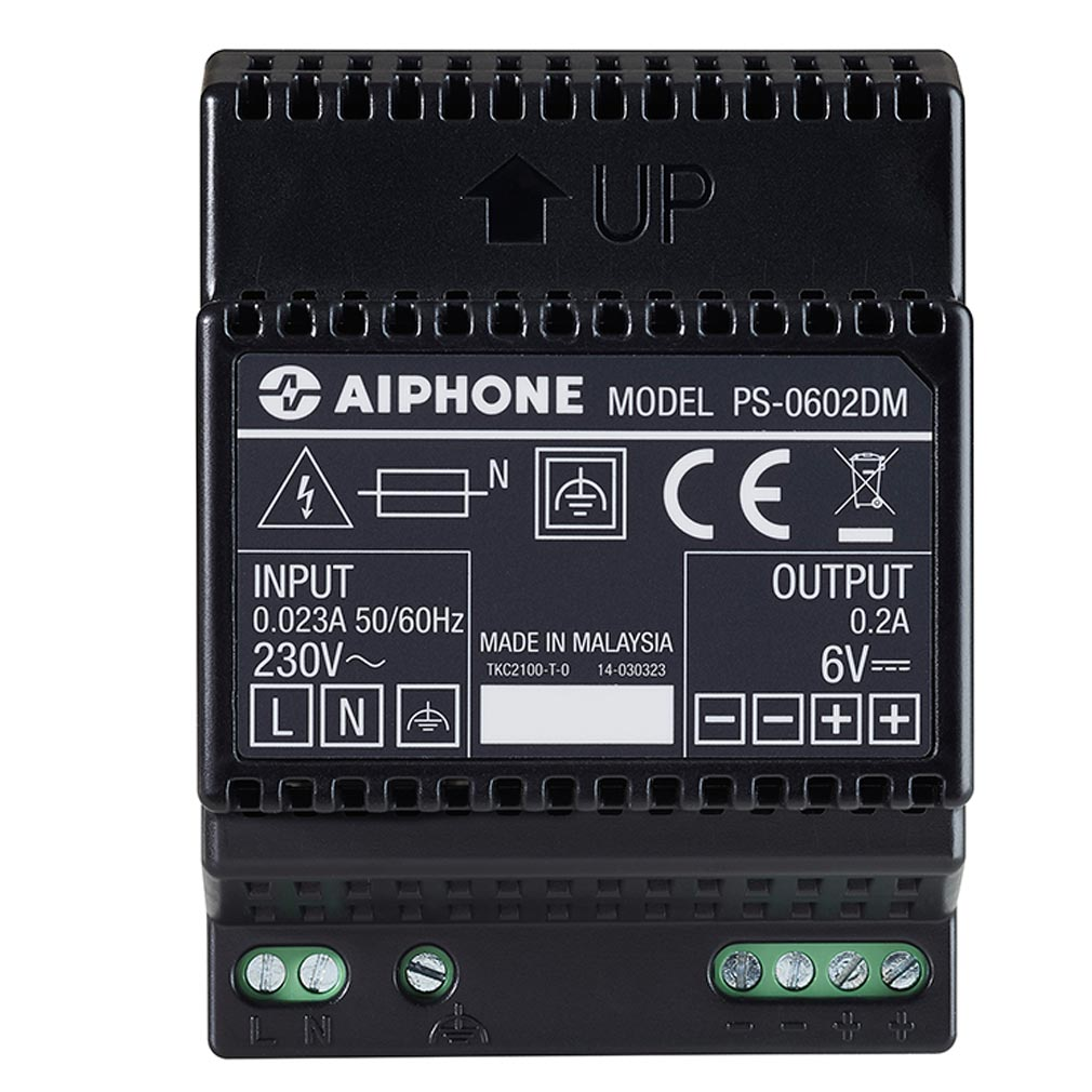 Aiphone - AIP110916 - PS0602DM Alimentation 230 Vac / 6 Vcc - 0,2 A
