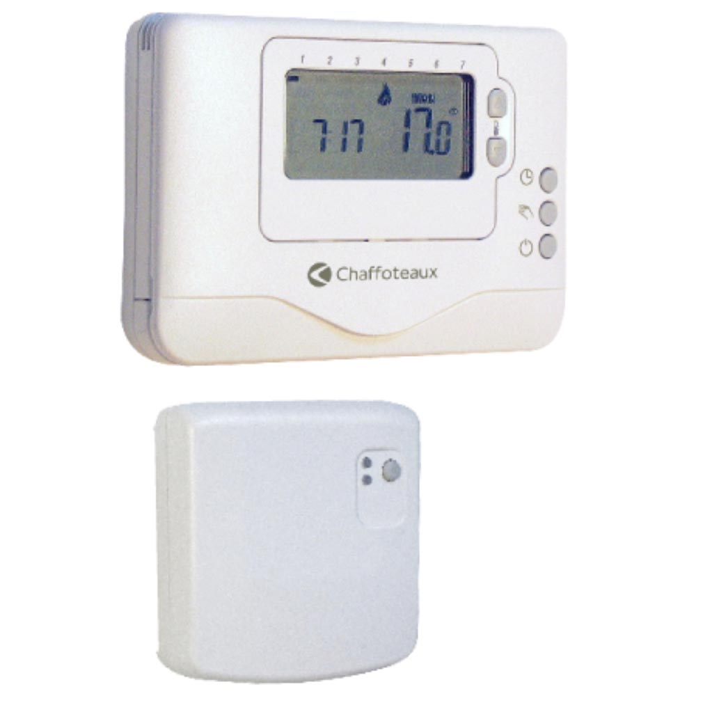 Chaffotea - CHF3318602 - CHAFFOTEAUX 3318602 - THERMOSTAT PROGRAMMABLE SS FILS EASY