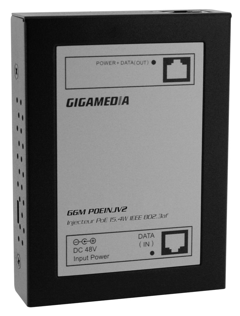 Gigamedia - GGMPOEINJV2 - GIGAMEDIA POEINJV2 - INJECTEUR POWER OVER ETHERNET