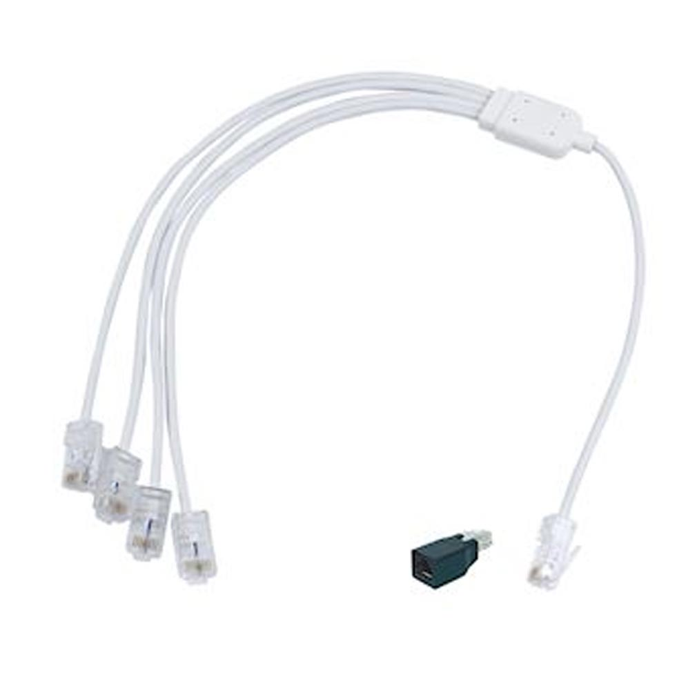 Michaud - MIHQ293 - MICHAUD Q293 - Cordon quadruple Téléphone/RJ45