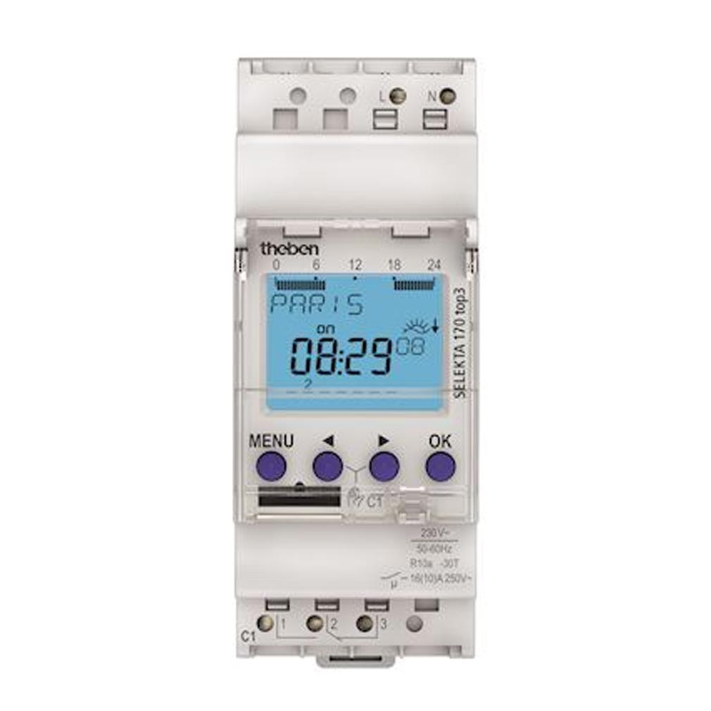 Theben - THB1700130 - THEBEN 1700130 - Inter astro modulaire 1c 2 modules 35 mm compatible Obelisk top 3 Bluetooth
